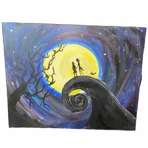 Hand Painted Nightmare Before Christmas Canvas